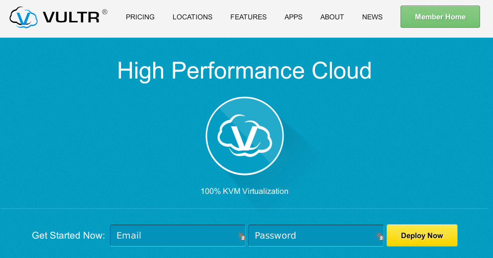 VULTR VPS Homepage